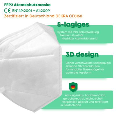 FFP2 Maske Vock 5-lagig