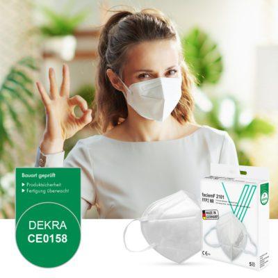 FFP2 masken atemschutzmasken faciemF Vock Dekra
