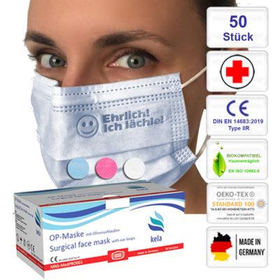 Medizinische OP - Masken Prägung/Gravur