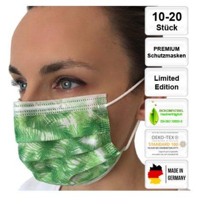 Premium-Schutzmasken-digital-bedruckt-kela-OP-Maske-Palmen